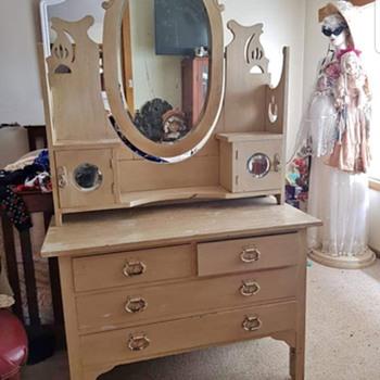 Antique Hand Carved Dresser - Furniture