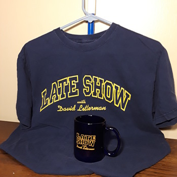 The LATE SHOW WITH DAVID LETTERMAN souvenir items - Advertising