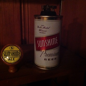 2 rare Sunshine Beer Pieces - Breweriana