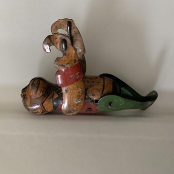 Old Tin wind up Monkey Toy unknown Mfg.  - Toys