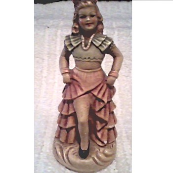 New Art Wares (Chalkware) Figurine # 537 / Spanish Dancer / Circa 1940 - Figurines