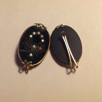 Any idea on how these were meant to be used? Dress clips or earrings? - Costume Jewelry
