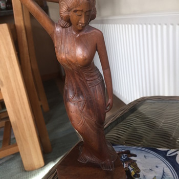 Asian hardwood figurine - Asian