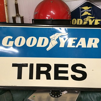 GOODYEAR TIRES sign - Petroliana