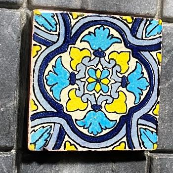 Small Majolica Tile - Pottery