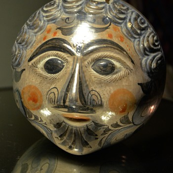 Tonala Pottery Face Bank - 1920s to 1950s - Pottery