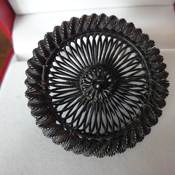 BERLIN IRON SILESIAN WIRE WORK BROOCH 18s  - Fine Jewelry