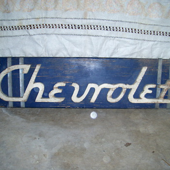 Old chevrolet  dealer sign