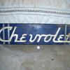 Old chevrolet  dealer sign