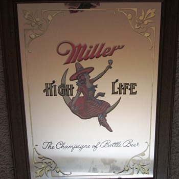 Miller High Life Mirror with girl on the moon