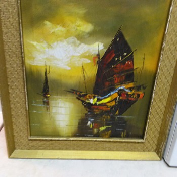 SHIP OIL PAINTING - Fine Art