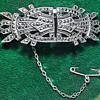 Pair of Art Deco Sterling Silver & Marcasite Clips with Brooch Back.
