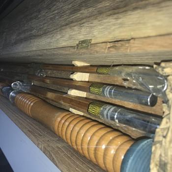 Vintage Japanese bamboo deep sea rod. - Asian