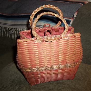 Maine Wabanaki Purse Basket  - Native American
