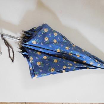 Umbrella with Elaborate Metal Handle - USA