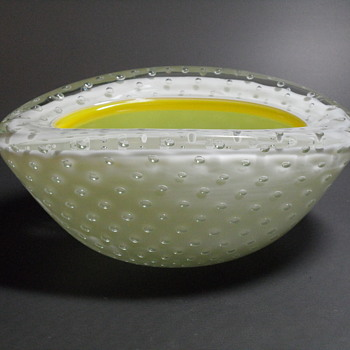 Murano Bullicante Opalescent Bowl - Art Glass