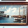Two Mid-Century Oils on Canvas / Harbor Scenes with Boats / Circa 1960's 70's