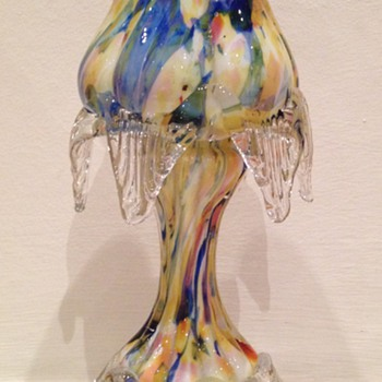 Welz pastel découpage floriform footed vase - Art Glass