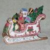 Porcelain Sleigh with Toys Figurine