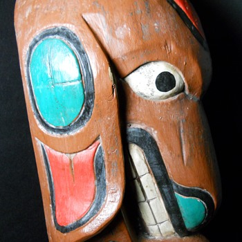 Native American Totem Pole, Mid to Late 1800. - Fine Art