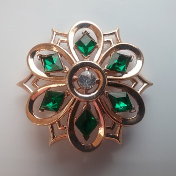 Crown Trifari Philippe 50s brooch  - Costume Jewelry