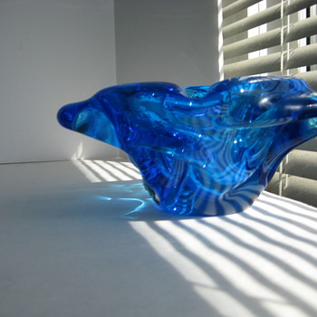 Blue Altaglass bowl - Art Glass