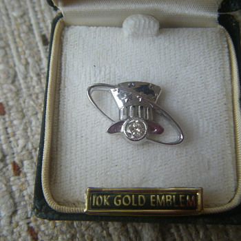 Old Eastern Airlines Ring the Hat Pin with Diamond - Fine Jewelry