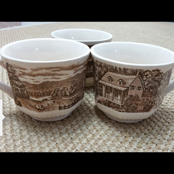 Three Dreamy Homestead HandPainted Cups - Pottery