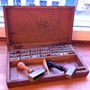 Antique letter press/stamping set