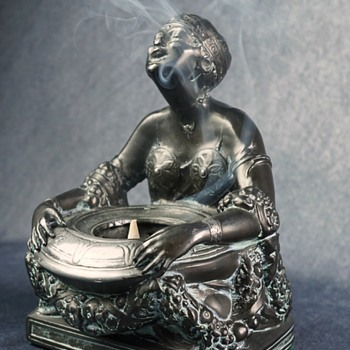 Cast Metal Deco Incense Burner - Art Deco