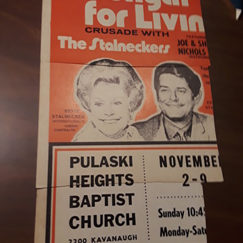 (most of a) vintage church revival concert poster - Advertising