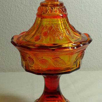 Vintage Indiana Glass Tiara Compote Special Edition in Sunset - Glassware