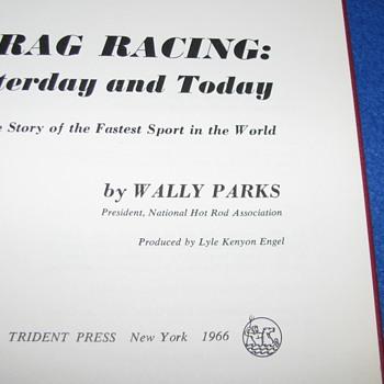 Vintage Drag Racing Book - Books
