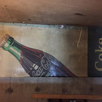 10' x 4' tin Coke sign