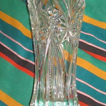 heavy crystal glass vase  - Glassware