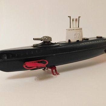 Vintage Tin Marusan Battery Operated  USS Nautilus (SSN-571) - Model Cars