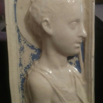 Antique Plaque of Saint? - Pottery