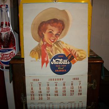1950 Nesbitt's Soda Calendar - Advertising