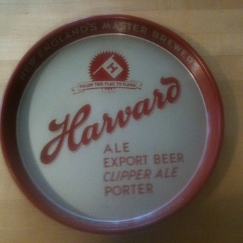 Harvard Beer Tray 1940's Lowel - Advertising