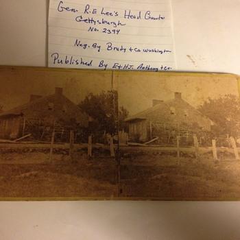 """Robert E Lee photo negative """"War View"""""""