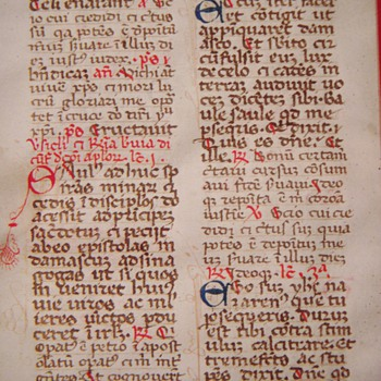 Antique Parchment w/Handwritten Latin Text~Page from the Bible? - Paper