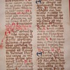 Antique Parchment w/Handwritten Latin Text~Page from the Bible?