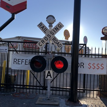 RR Crossing Sign - Railroadiana