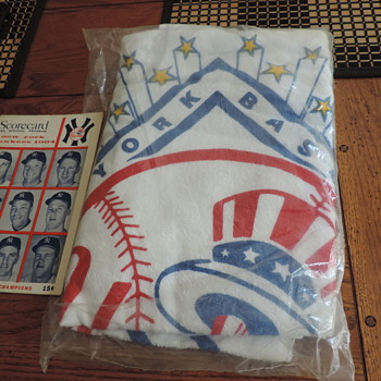 1964 NY Yankees towel and scorecard