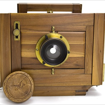 Dry Plate Camera made with unusual Manzanita Wood