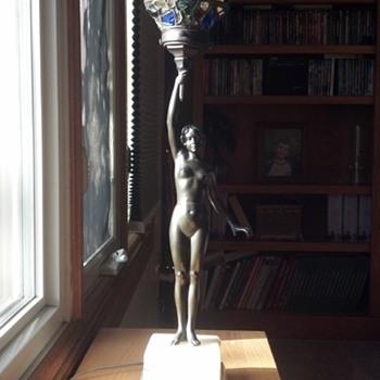 Naked Lady Lamp  - Art Deco