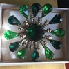 Antique Costume Green Broach no Mfg. Marks. Look familiar ???????  Do Tell