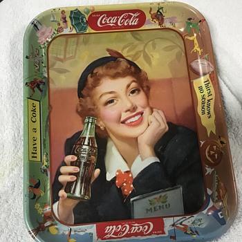 1950 Coca Cola tray  - Coca-Cola