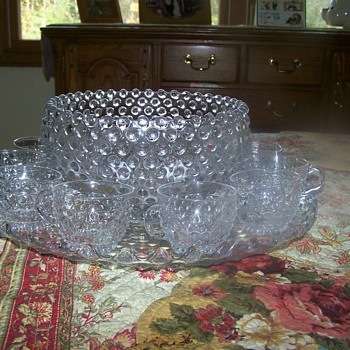 Crytal Punch Bowl Set - Glassware