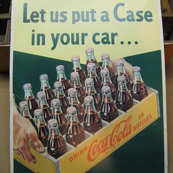 1950's Cardboard Coca-Cola Sign - Coca-Cola